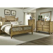 View Product - Queen Poster Bed, Dresser & Mirror, Chest