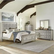 Opt Queen Panel Bed, Dresser & Mirror, Chest