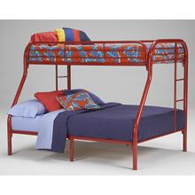 Twin/Full Metal Bunk Bed - Black