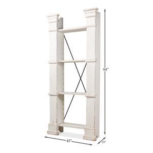 Modular Bookshelf, Left & Right Set,Wht