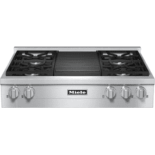 RangeTop with 4 burners and grill for versatility and performance