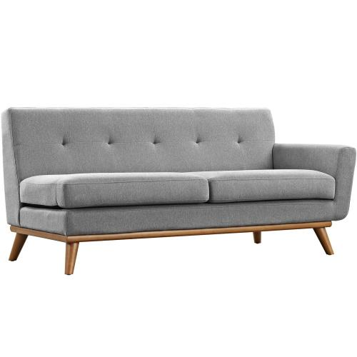 Modway - Engage Right-Arm Upholstered Fabric Loveseat in Expectation Gray