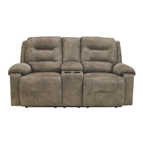 Rotation Reclining Loveseat With Console