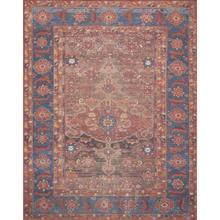 """Lucca Rust Blue Rug - 2'-3"""" x 3'-9"""""""