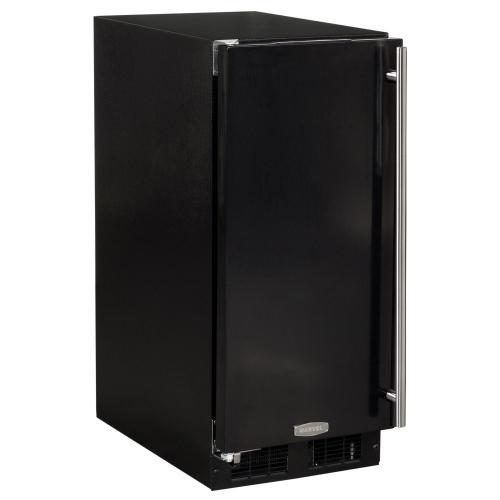 15-In Built-In All Refrigerator with Door Style - Black, Door Swing - Left