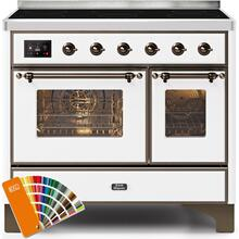 View Product - Majestic II 40 Inch Electric Freestanding Range in Custom RAL Color with Bronze Trim