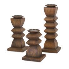 Desta Wood Candleholders - Set of 3