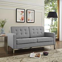 See Details - Loft Upholstered Fabric Loveseat in Light gray