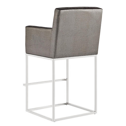 Two-Tone Modern Upholstered Bar Stool