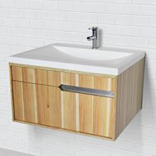Cityscape Collection Wallmount Vanity With Solid Surface Countertop and Bathroom Sink