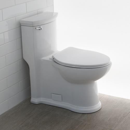 Lacava - Floor-standing elongated one-piece porcelain toilet with siphonic single flush system (1.28 gpf), includes a seat cover and tank