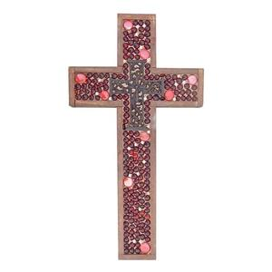 Red Jeweled Large Cross