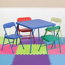 View Product - Kids Colorful 5 Piece Folding Table and Chair Set