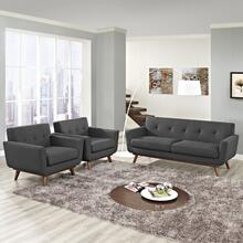 Engage Armchairs and Loveseat Set of 3 in Gray