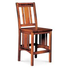 """See Details - Aspen Stationary Barstool with Inlay, 24"""" / Wood Seat"""
