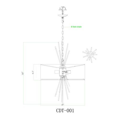 "Conduit CDT-001 34""H x 24""W x 24""D"