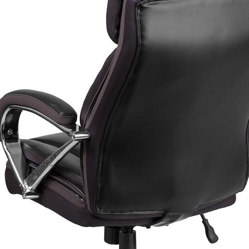 Gallery - HERCULES Series Big & Tall 500 lb. Rated Black LeatherSoft Executive Swivel Ergonomic Office Chair with Extra Wide Seat