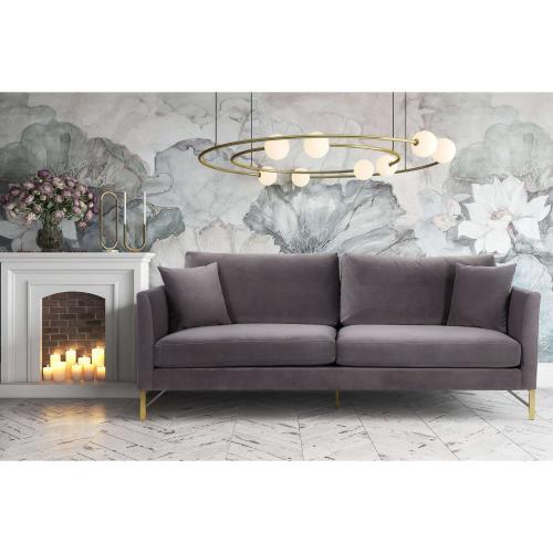 Tov Furniture - Massi Grey Velvet Sofa