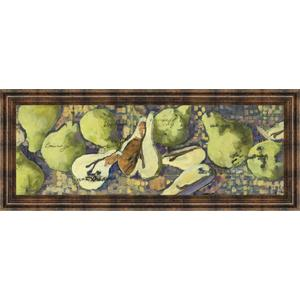 """""""Sparkling Pears Il"""" By Silvia Rutledge Framed Print Wall Art"""