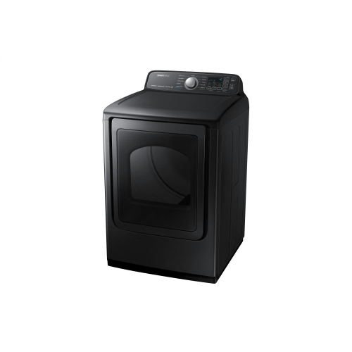 Samsung Canada - 7.4 Cu.Ft. Electric Dryer with Steam Sanitize+ in Black Stainless Steel