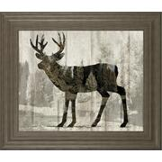 """Camouflage Animals- Deer"" By Tania Bello Framed Print Wall Art Product Image"