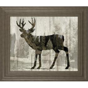 """Camouflage Animals- Deer"" By Tania Bello Framed Print Wall Art"