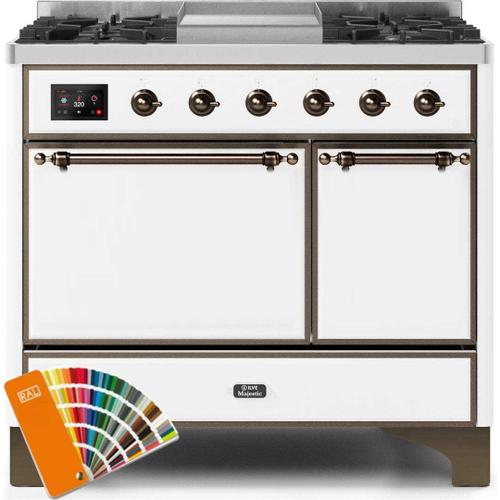 Product Image - Majestic II 40 Inch Dual Fuel Natural Gas Freestanding Range in Custom RAL Color with Bronze Trim