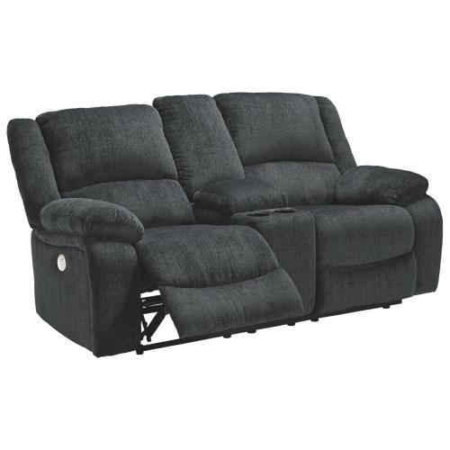 Signature Design By Ashley - Draycoll Power Reclining Loveseat With Console