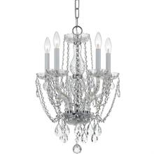 Traditional Crystal 5 Light Cr ystal Chrome Mini Chandelier