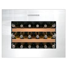 See Details - Integrated Wine Cabinet 18 Bottle Single Zone White Pull Down Door