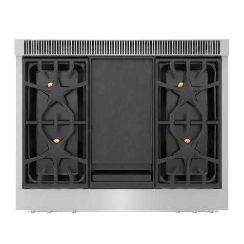Thermador - Gas Professional Range 36'' Pro Grand® Commercial Depth Stainless Steel PRG364WDG