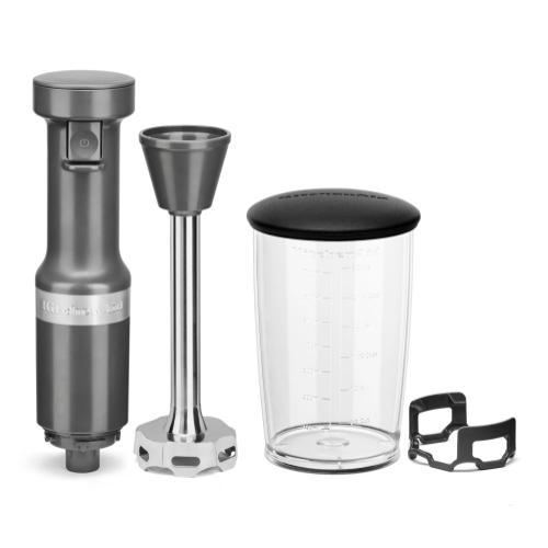 KitchenAid - Variable Speed Corded Hand Blender - Matte Charcoal Grey