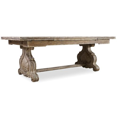 Chatelet Refectory Rectangle Trestle Dining Table with Two 22'' Leaves