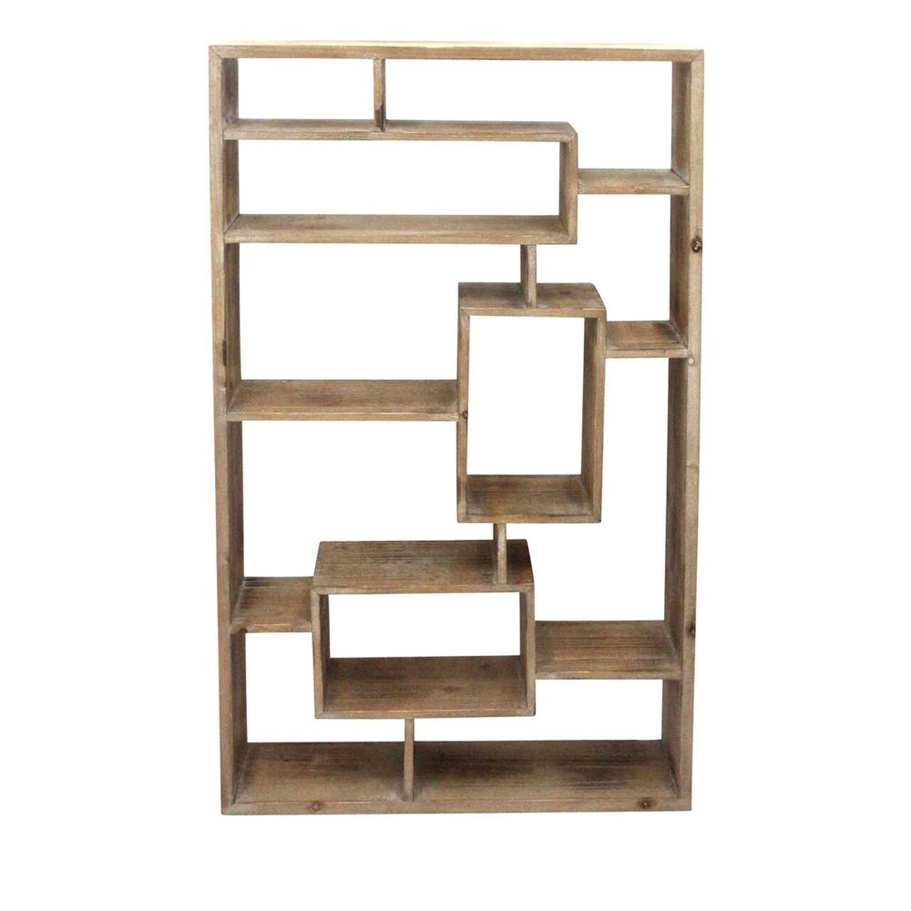 See Details - Wooden Wall Shelf, Brown