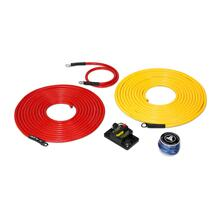 See Details - Premium 6 AWG 12V Power Marine Connection Kit, Single Amplifier, Within 20 ft of Battery