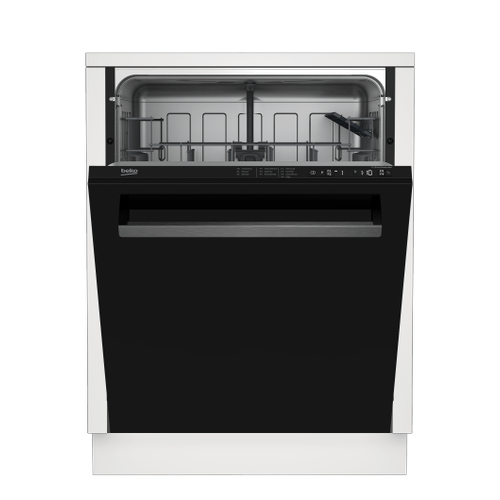 Tall Tub Black Dishwasher, 14 place settings, 48 dBA, Top Control