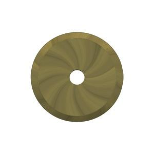 """Deltana - Base Plate for Knobs, 1-1/4"""" Diam. - Antique Brass"""
