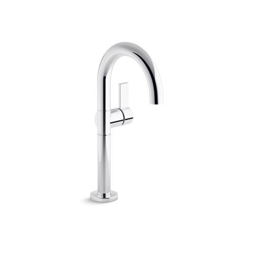 Single-Control Sink Faucet, Tall Spout - Matte Black