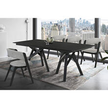 Cortina and Rowan 5 Piece Black Rectangular Dining Set