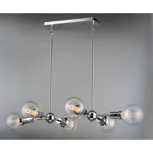 Molecule 6-Light Pendant with G40 CL LED Bulbs