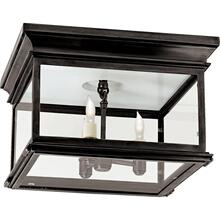Visual Comfort CHC4129BZ-CG E. F. Chapman Club 3 Light 13 inch Bronze Flush Mount Ceiling Light in Clear Glass