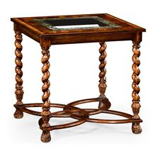 "Oyster & eglomise side table (26"")"