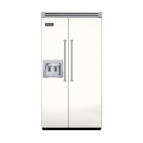 """Viking - Cotton White 42"""" Quiet Cool™ Side-by-Side with Dispenser - VISB Tru-Flush™ (42"""" wide)"""