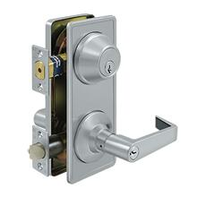Intercon. Lock GR2, Entry w/ Claredon Lever - Brushed Chrome