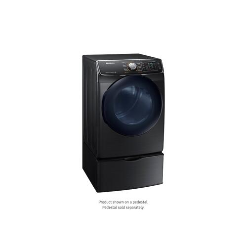 7.5 cu. ft. Smart Gas Dryer with MultiSteam™ in Black Stainless Steel