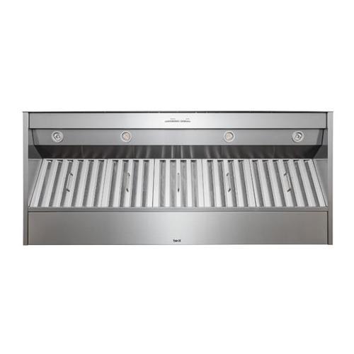 "BEST Range Hoods - 60"" Stainless Steel Built-In Range Hood for use with External Blower Options"