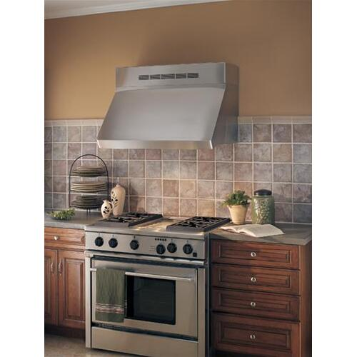 """WP29 - 42"""" Stainless Steel Pro-Style Range Hood with 300 to 1650 Max CFM internal/external blower options"""