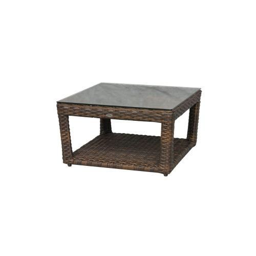 Portfino Coffee Table w/ Clear Glass