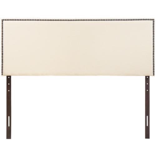 Region Nailhead Queen Upholstered Headboard in Ivory