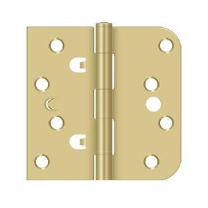 "Deltana - 4"" x 4"" x 5/8"" x SQ Hinge - Brushed Brass"